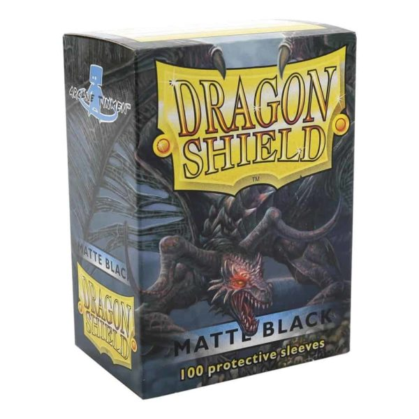 Dragon Shield Standard Sleeves - Matt Black (100)