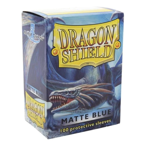 Dragon Shield Standard Sleeves - Matt Blue (100 Sleeves)