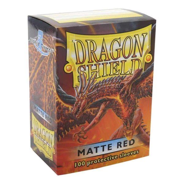 Dragon Shield Standard Sleeves - Matt Red (100)