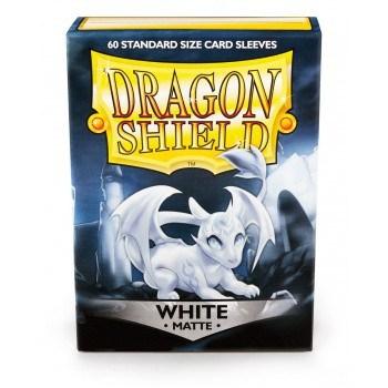 Dragon Shield - Matte White (60 Sleeves)