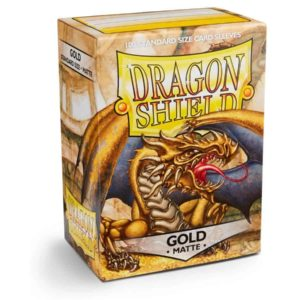 Dragon Shield - Matte Gold (100 Sleeves)
